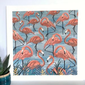 Flamingo Art Prin