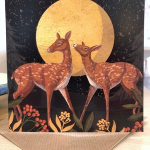 Deer in the Moonlight Card