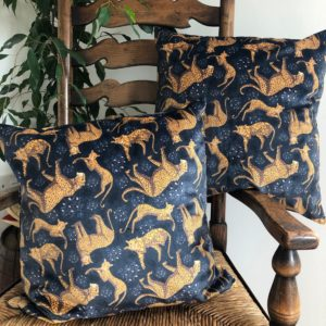 Luxury Velvet Cushion- Leopard Pattern