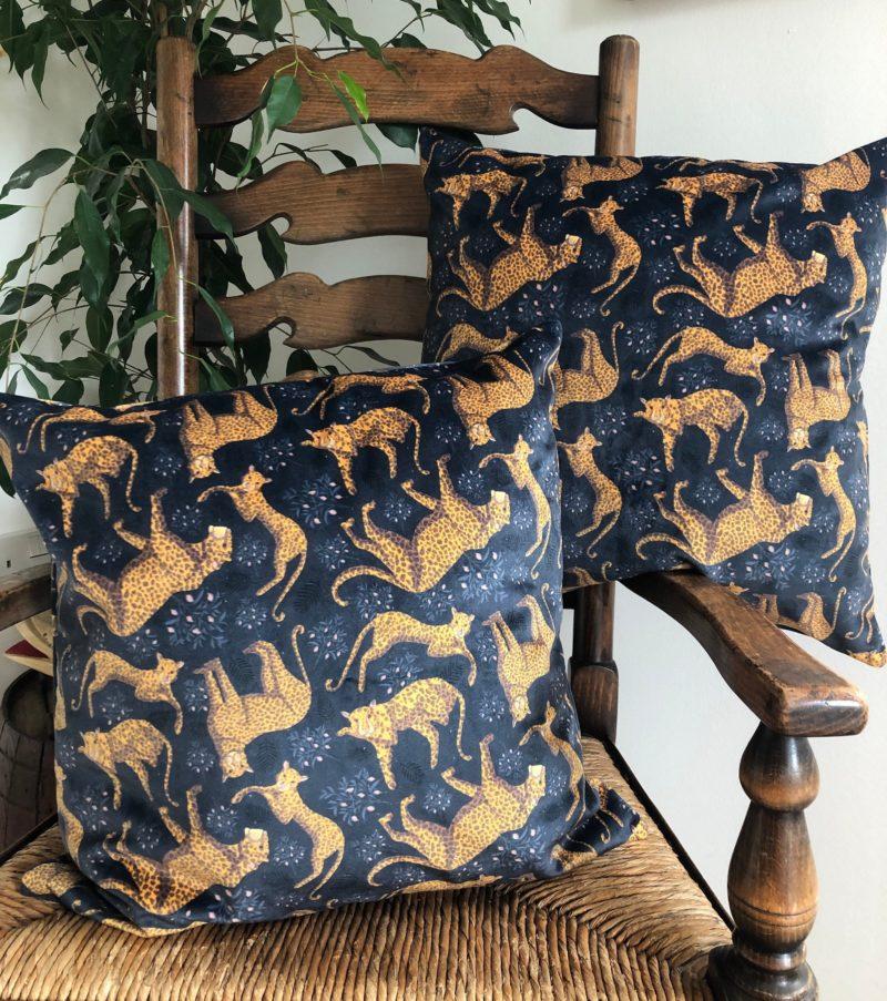 Luxury Velvet Cushion- Leopard Pattern
