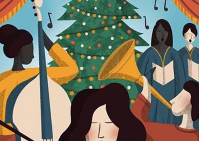 Lucy Rose Illustration- Christmas Carol- RT